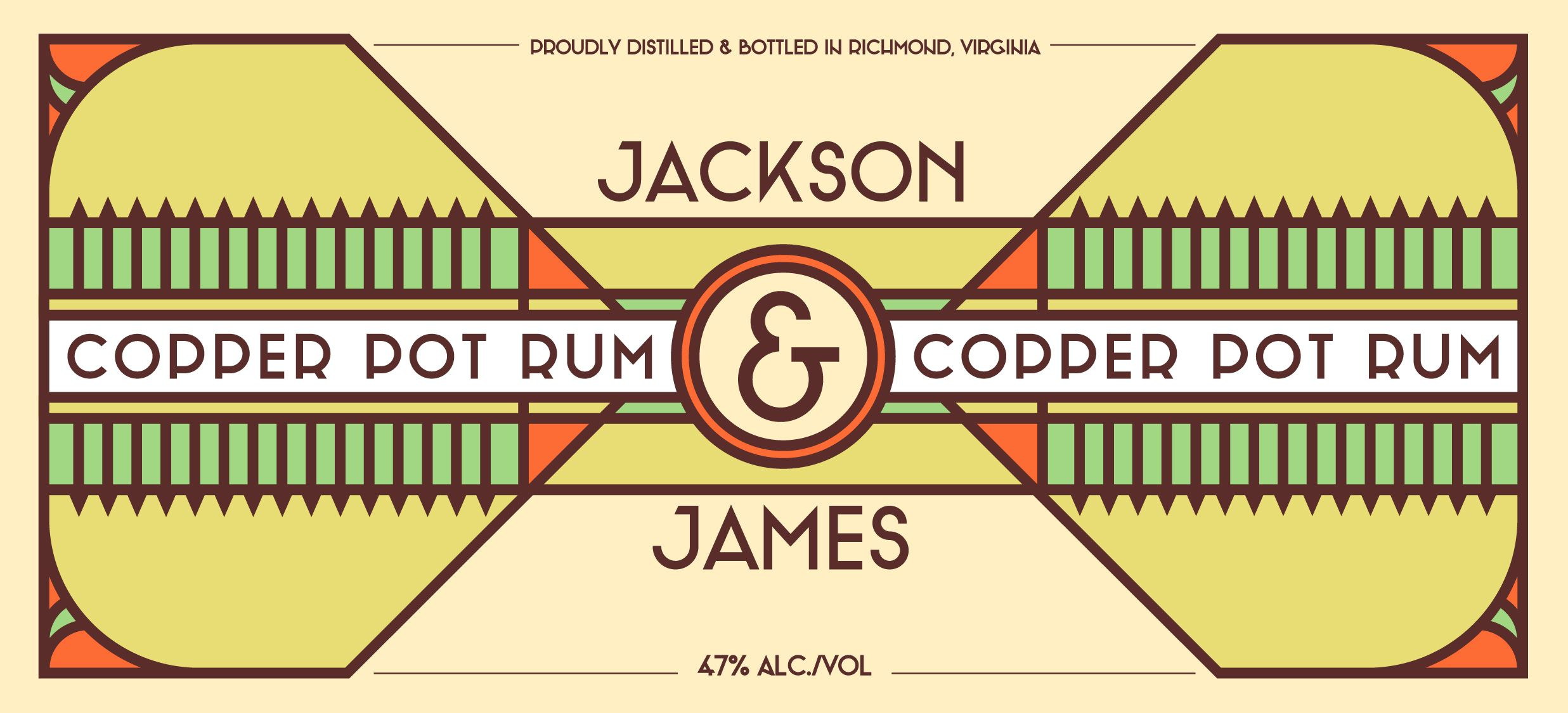 Jackson & James Rum Label