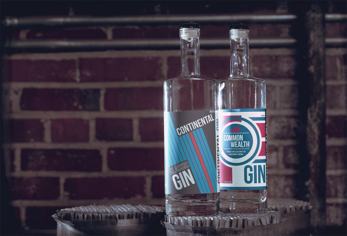 James River Distillery Gin Bottles
