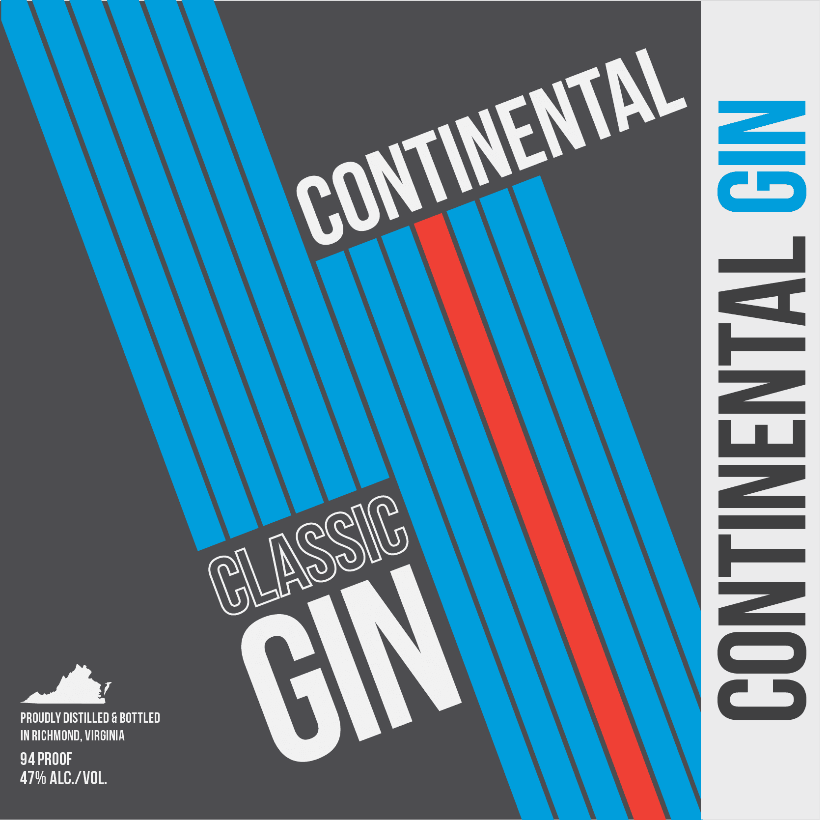 Continental Gin Label